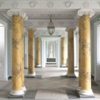 The entrance hall at Fota House