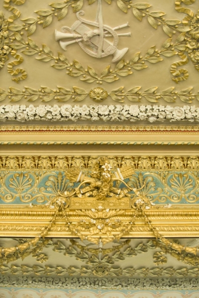 Detail of the drawing room ceiling