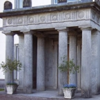 The portico of Fota House